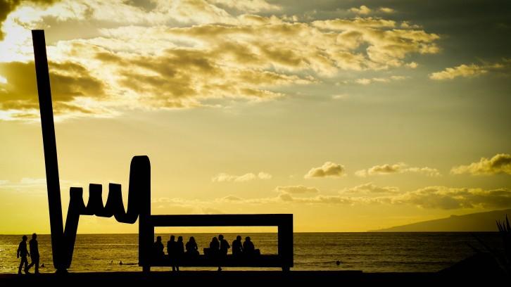 Tenerife beach scene