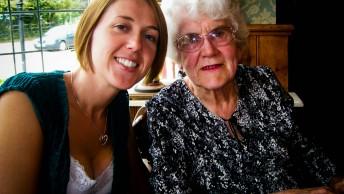 Birthday Girls. Me and my Nana