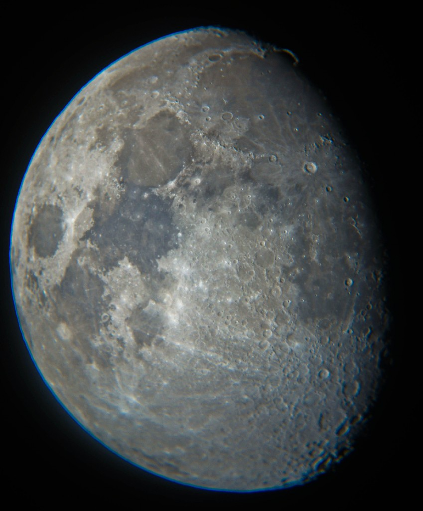 The moon through the telescope