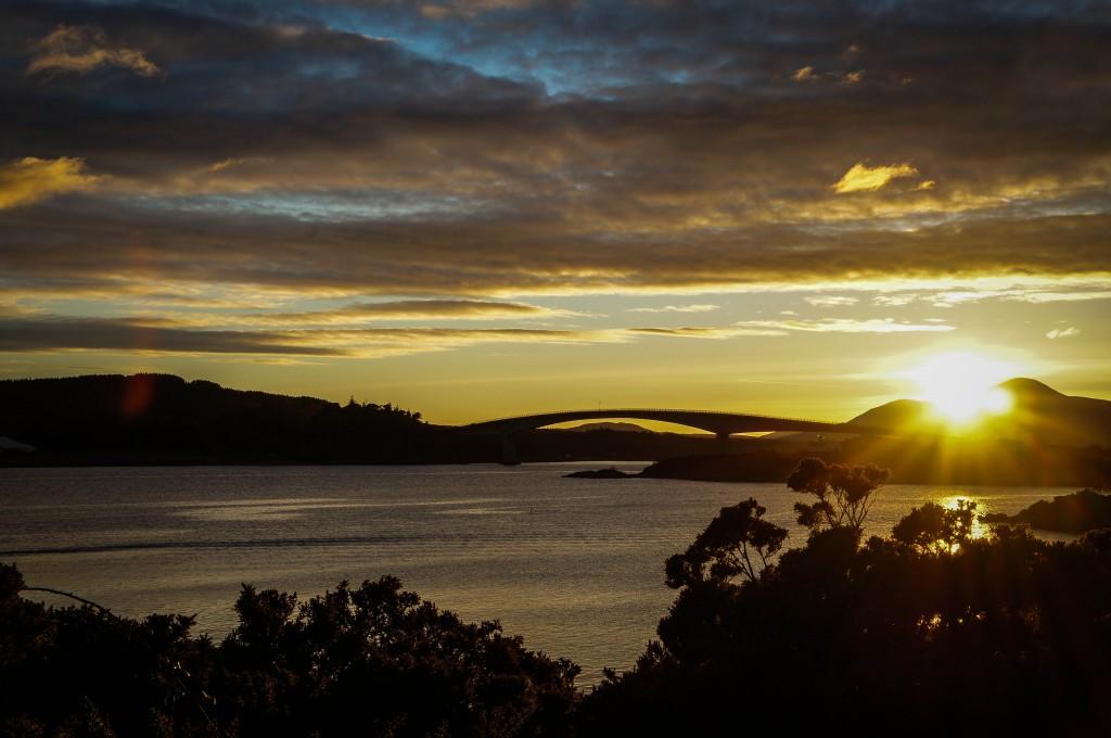 The Skye bridge at sunset