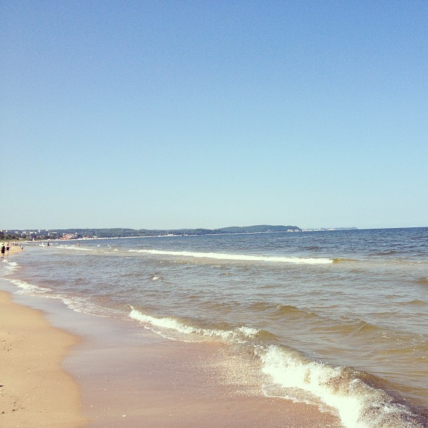 The beach at Sopot. (Photo credit: D Nightingale)