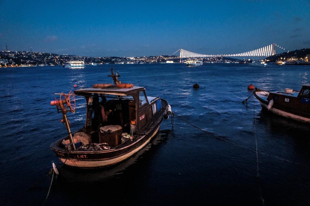 The First Bosphorus Bridge at Night