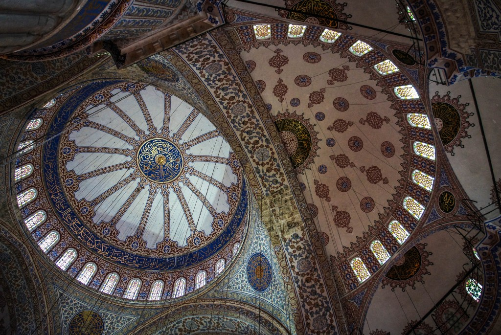 Decoration from the ceiling, Blue Mosque