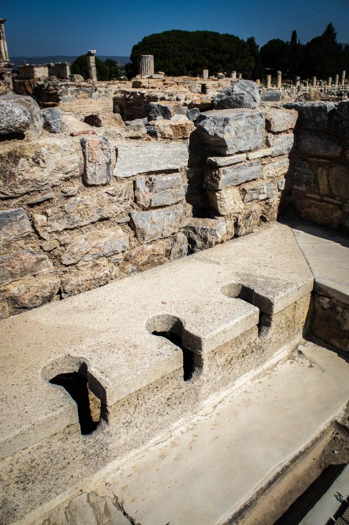 Ancient toilets in Ephesus