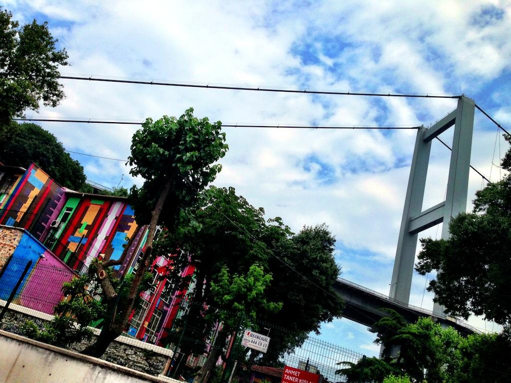 A school under the bridge