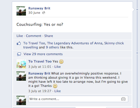 Couchsurfing: Yes or no?