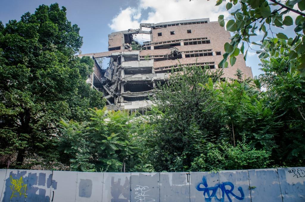 NATO bombed building