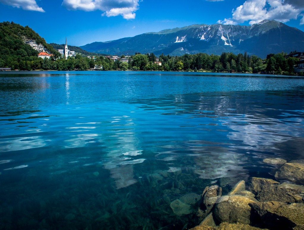 The clear waters of Lake Bled