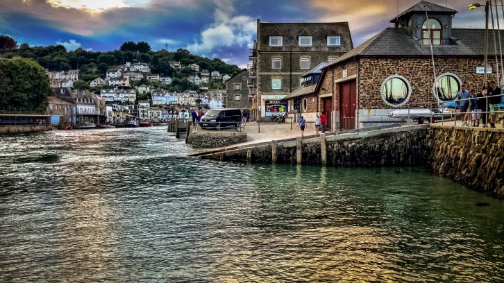 The entrance to Looe harbour.