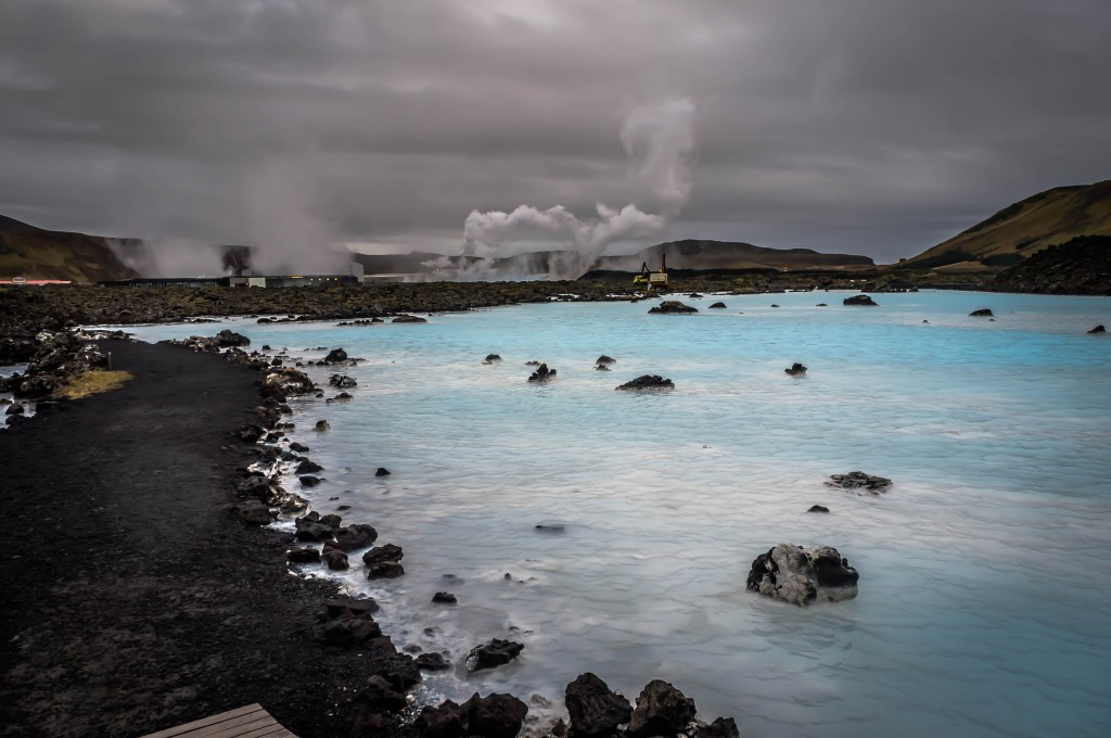 The Blue Lagoon is fed by groundwater from the  Svartsengi power plant next door.