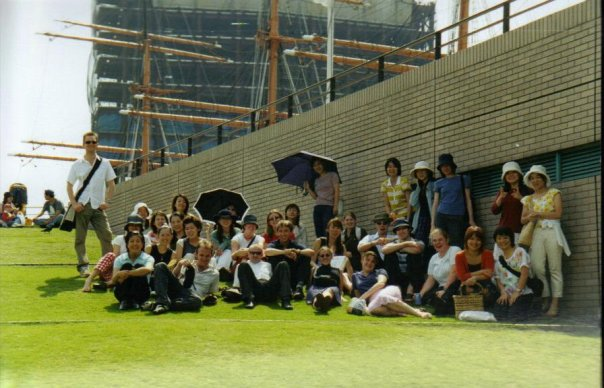 The first group of international friends that I made. Tokyo, 2002