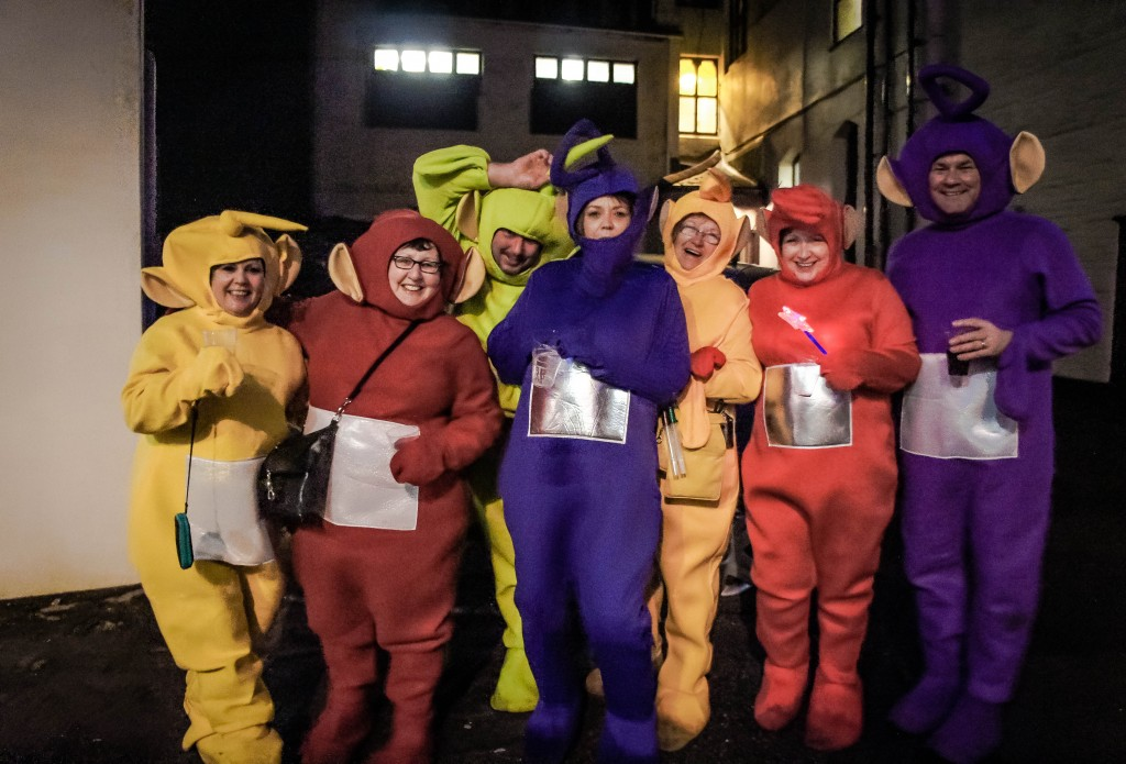 I loved these guys dressed as the Teletubbies!