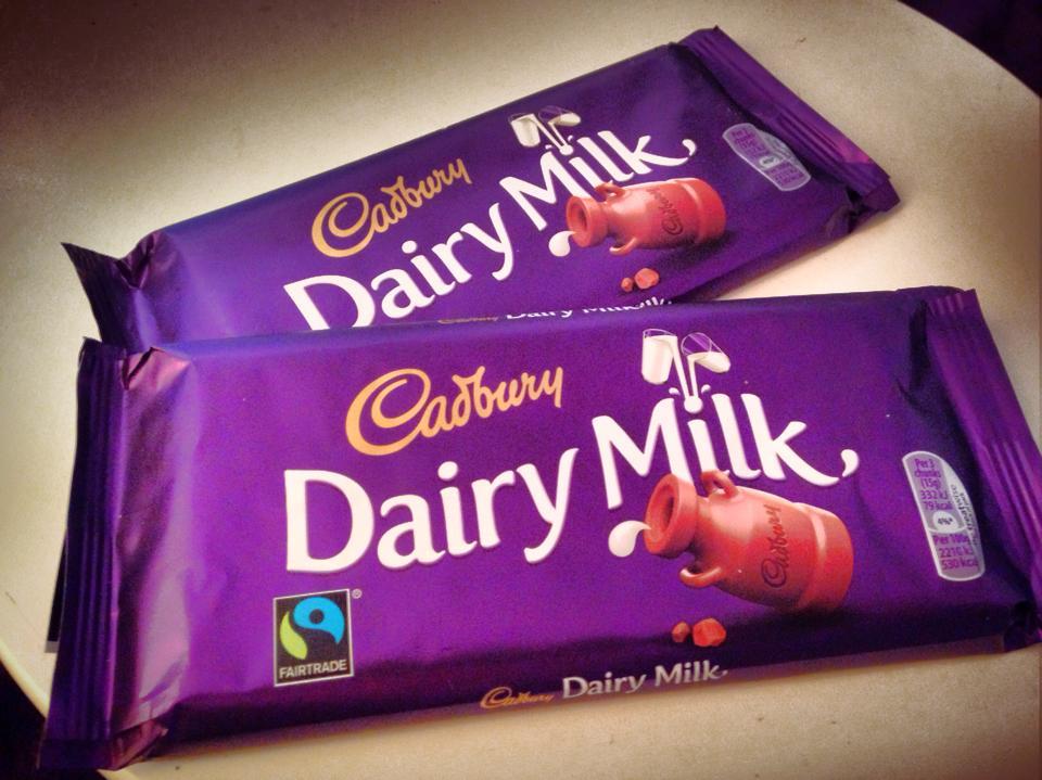 Joy! Somebody brought me Cadbury's.