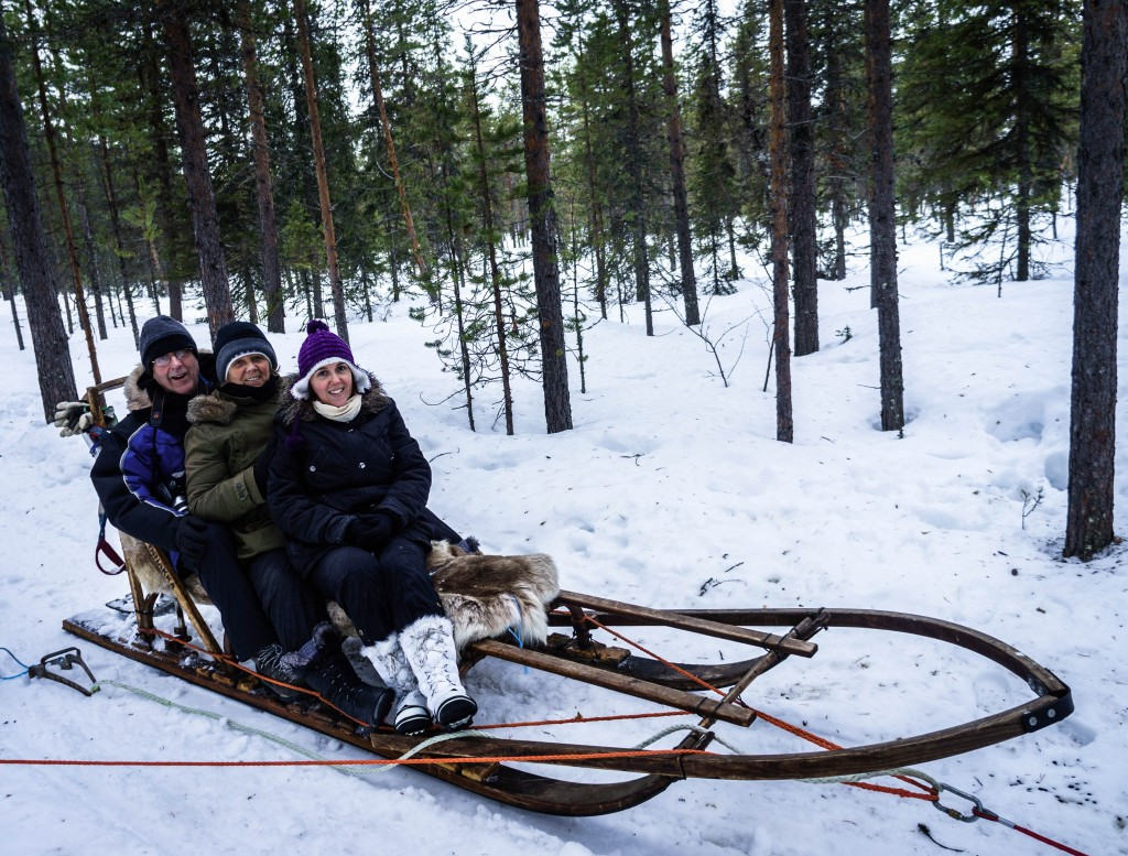 Sitting on the sled