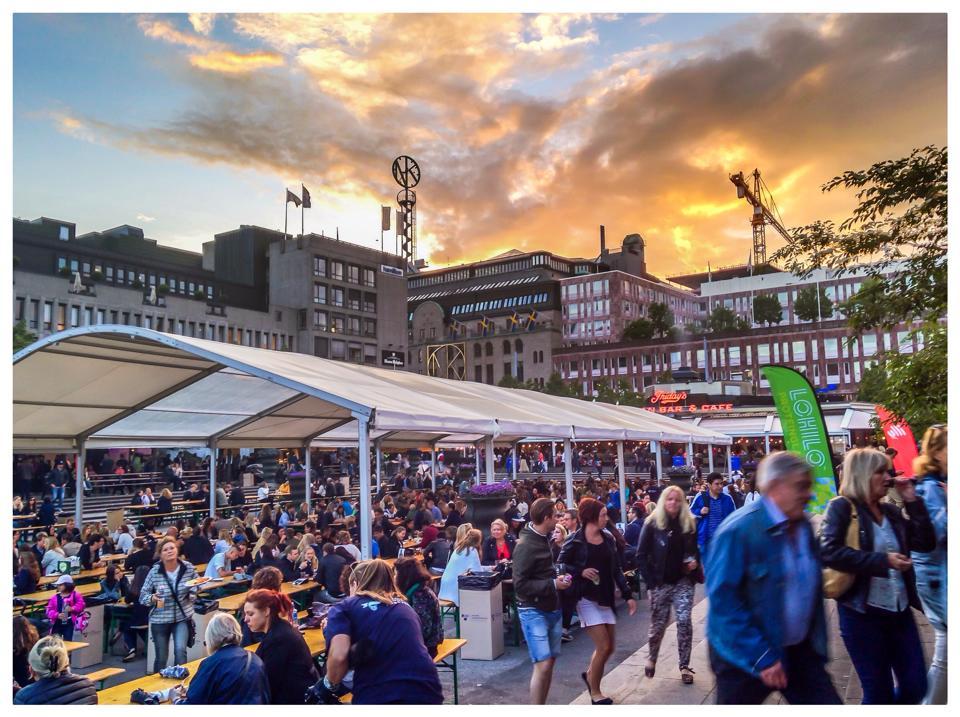 The taste of Stockholm food festival at Kungstradgården.