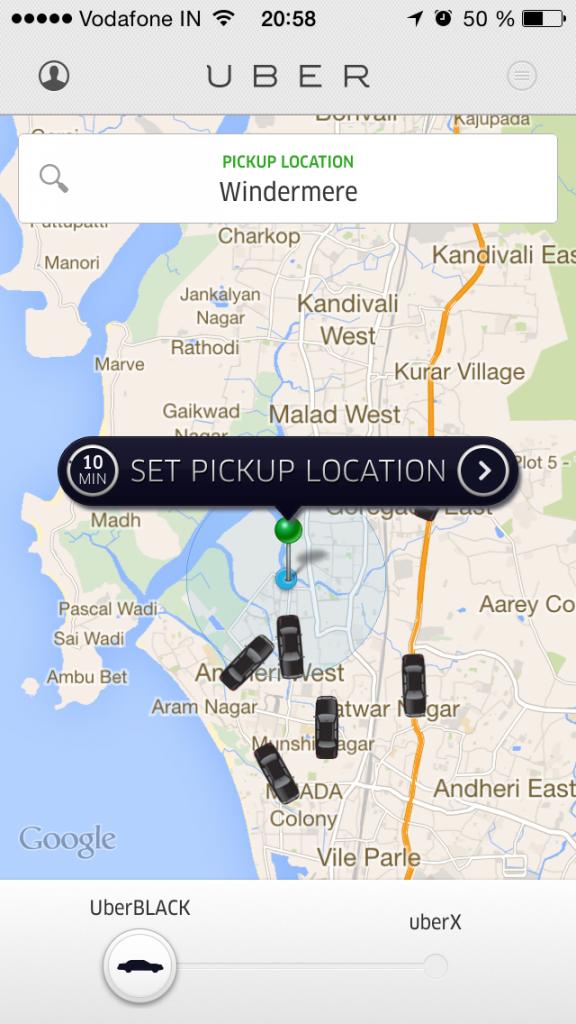 The wonderful Uber app