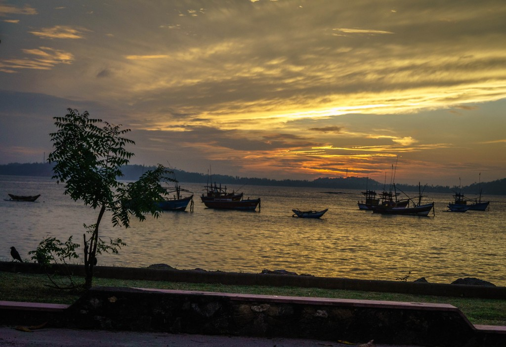 The coastal train route runs  alongside Sri Lanka's spectacular shore.