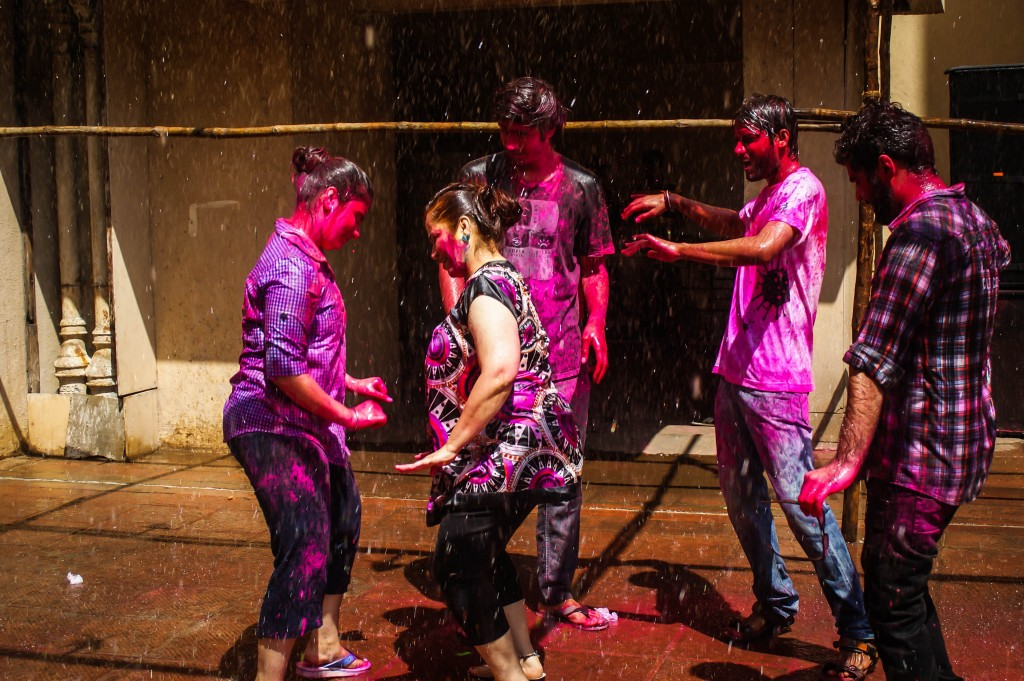 Dancing at Holi