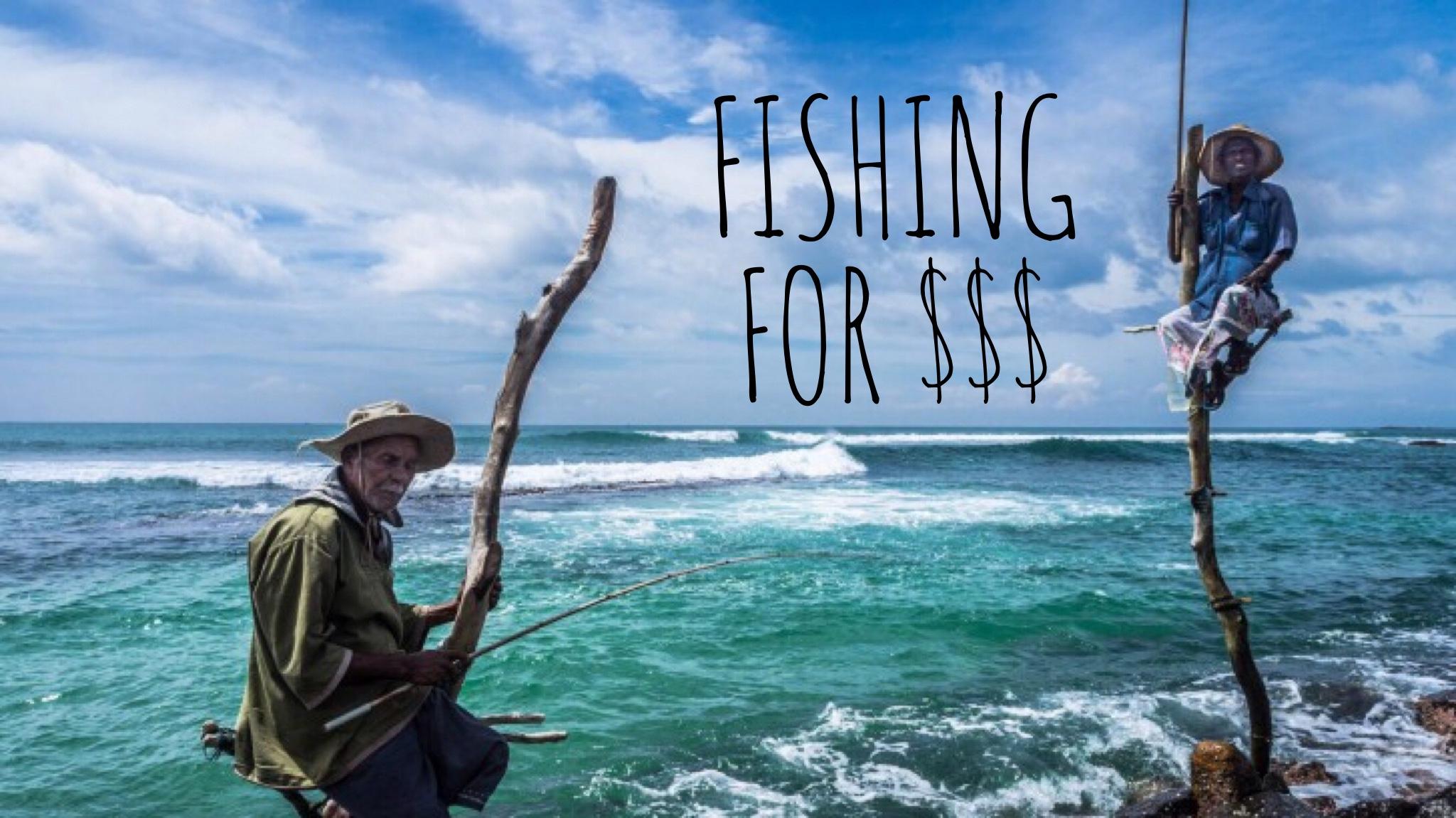 Stick fishermen of sri lanka fishing for dollars for Sri lanka fishing