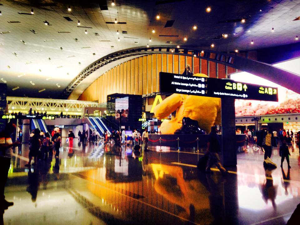 Hamad International Airport, Doha, the hub of Qatar Airways.