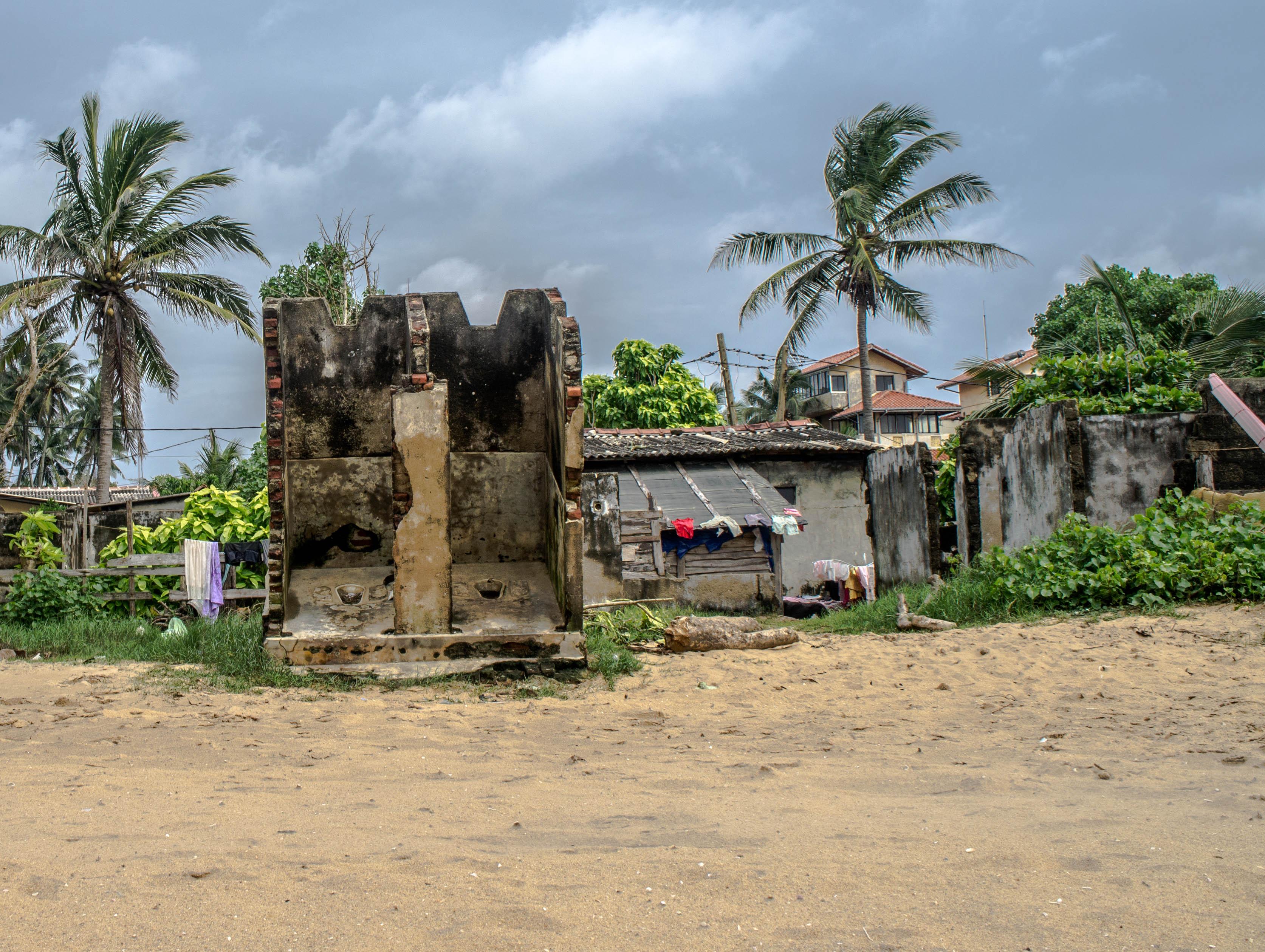 Tsunami damage near Colombo