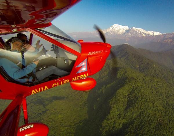 Mountain Flight Over the Himalayas