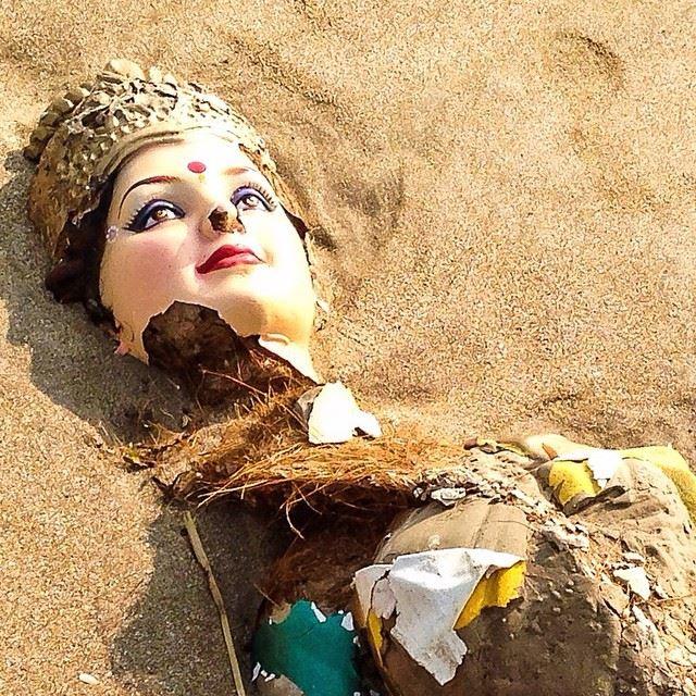 Hindu goddess, Juhu Beach, Mumbai