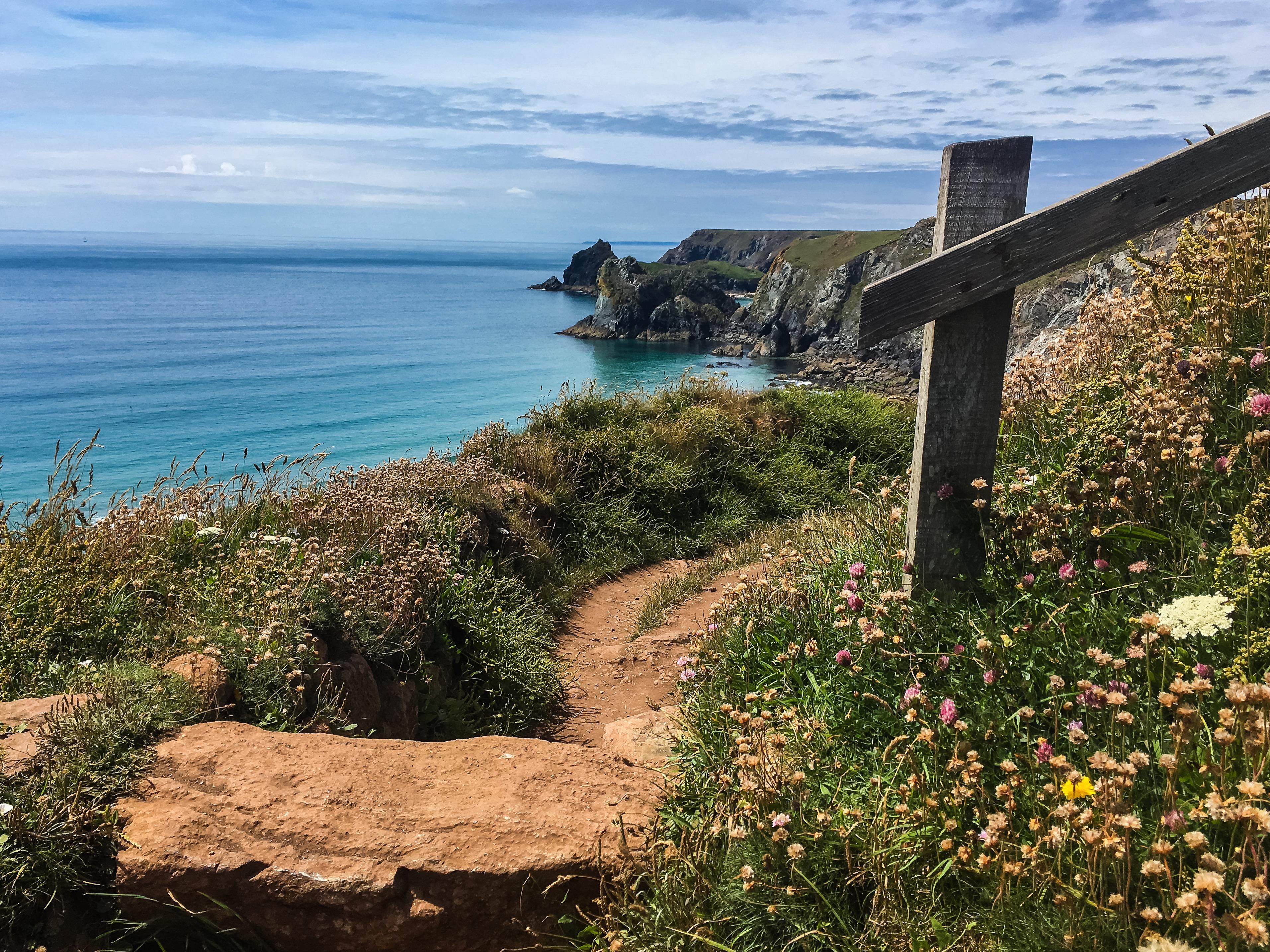 Coastal footpath, Lizard, Cornwall