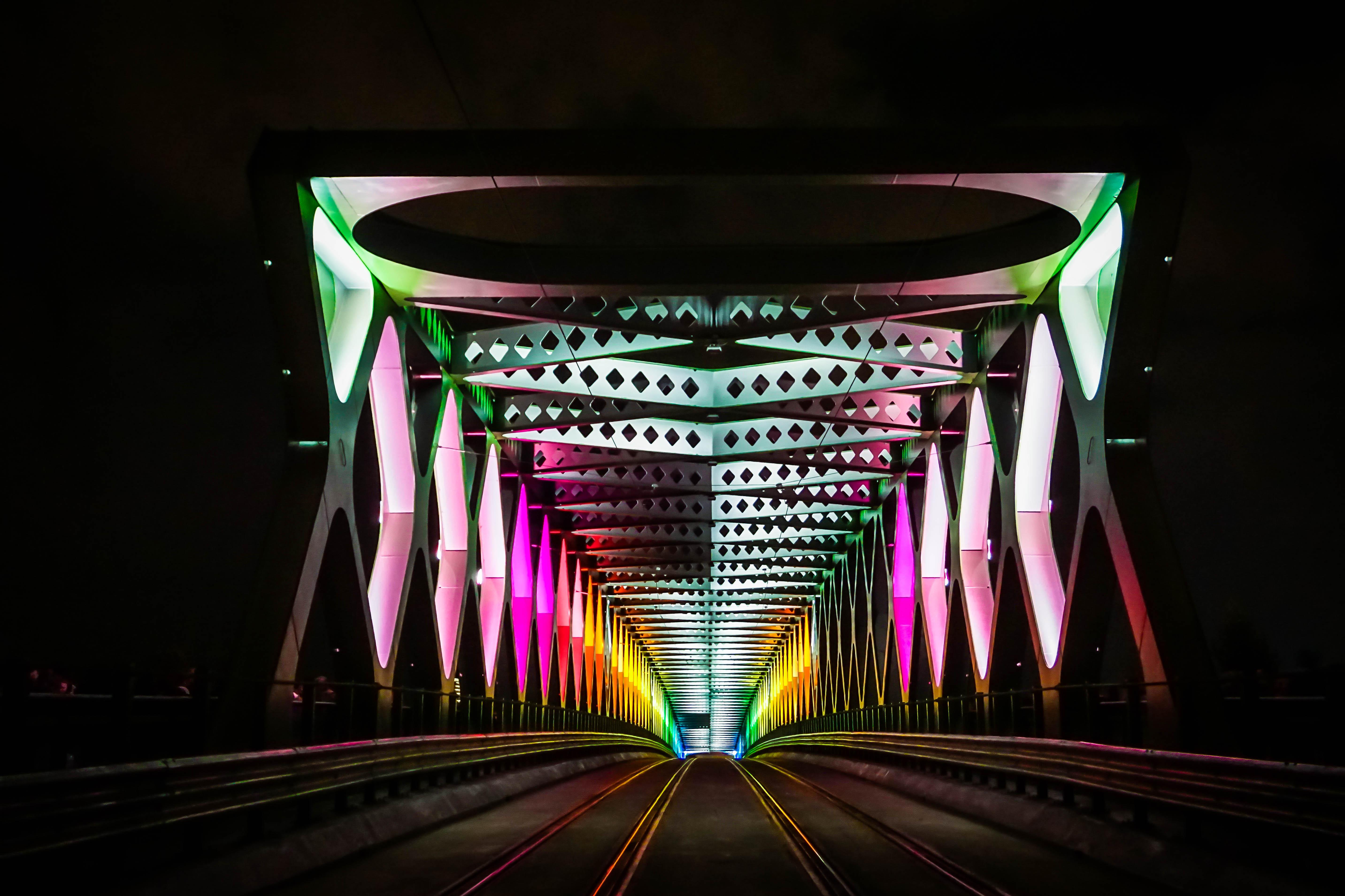 Bratislava bridge, White Night