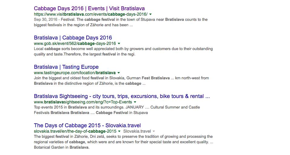 Cabbage Festivals, Bratislava