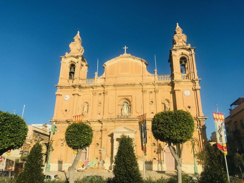 Church at Sliema in Malta